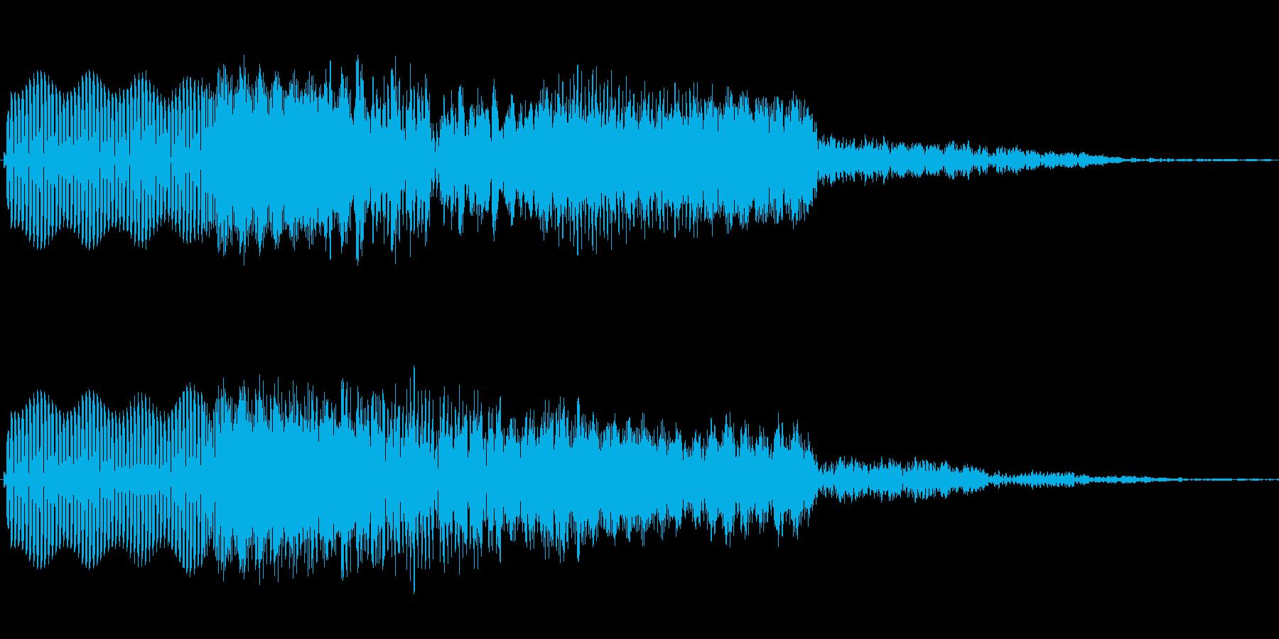 ボタン押下や決定音_ピコン!の再生済みの波形