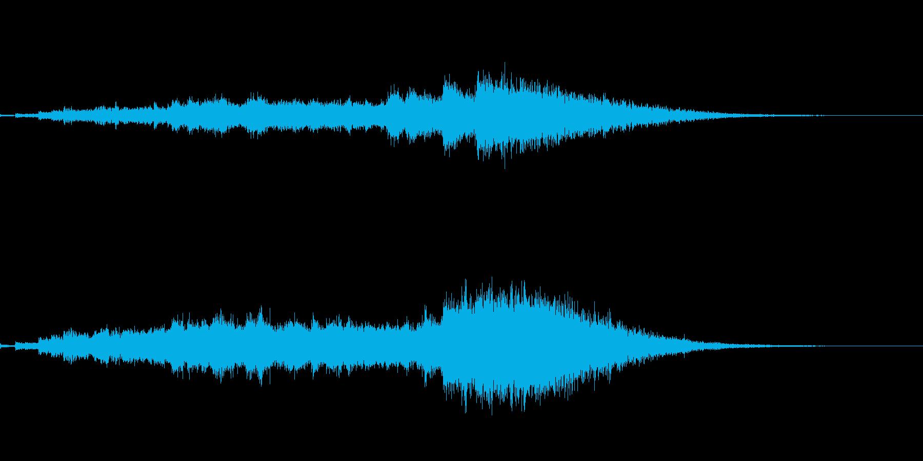 氷系の魔法エフェクトの再生済みの波形