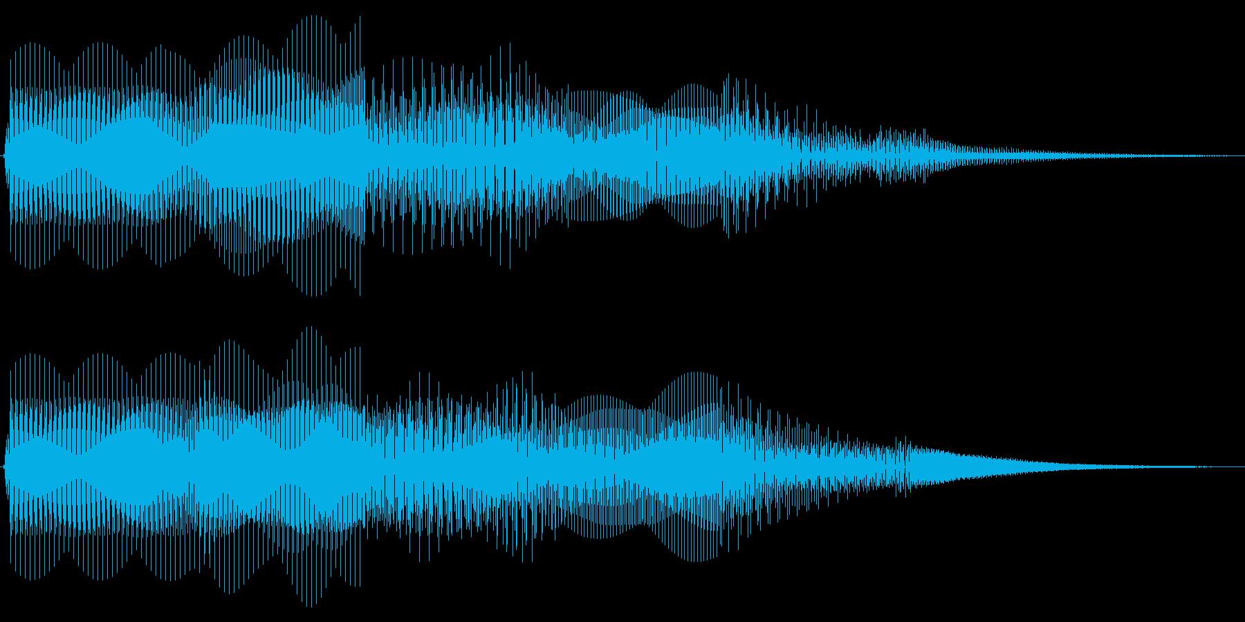 ボタン押下や決定音_ピピッ!の再生済みの波形