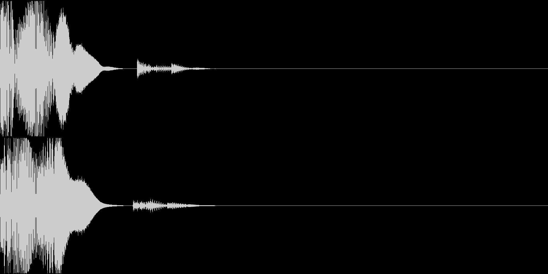 高品位なボタン、クリック音の未再生の波形