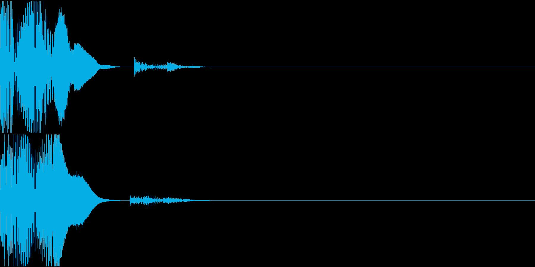 高品位なボタン、クリック音の再生済みの波形