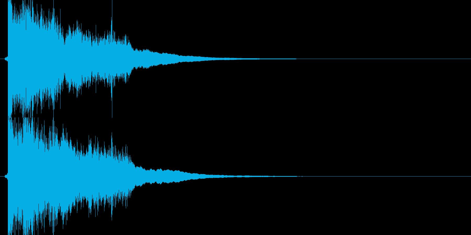 ガキーン(勢いのあるレジスター音)の再生済みの波形