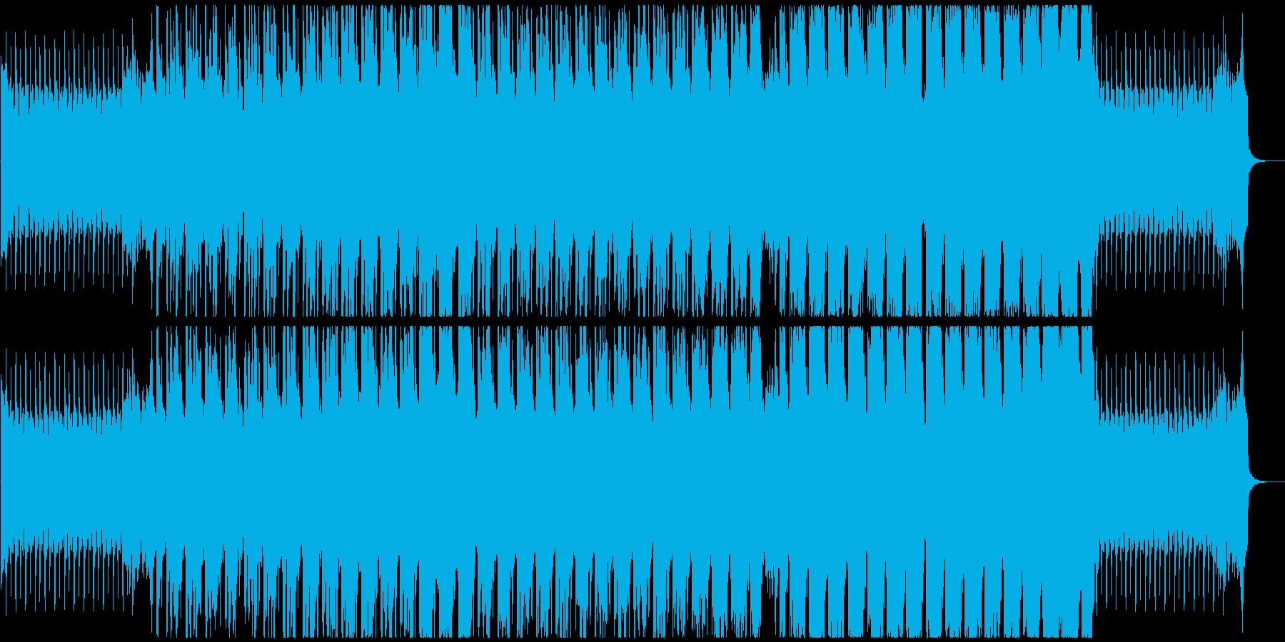 明るくキラキラしたハウス系BGMの再生済みの波形