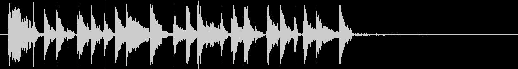 ファンキーなリズムギターカッティングの未再生の波形
