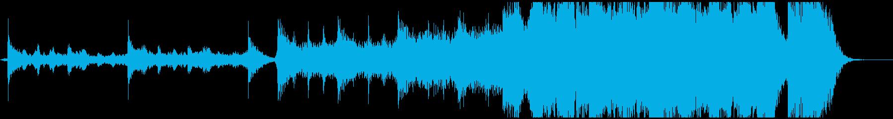 ハリウッド映画の予告編(トレーラー)風の再生済みの波形