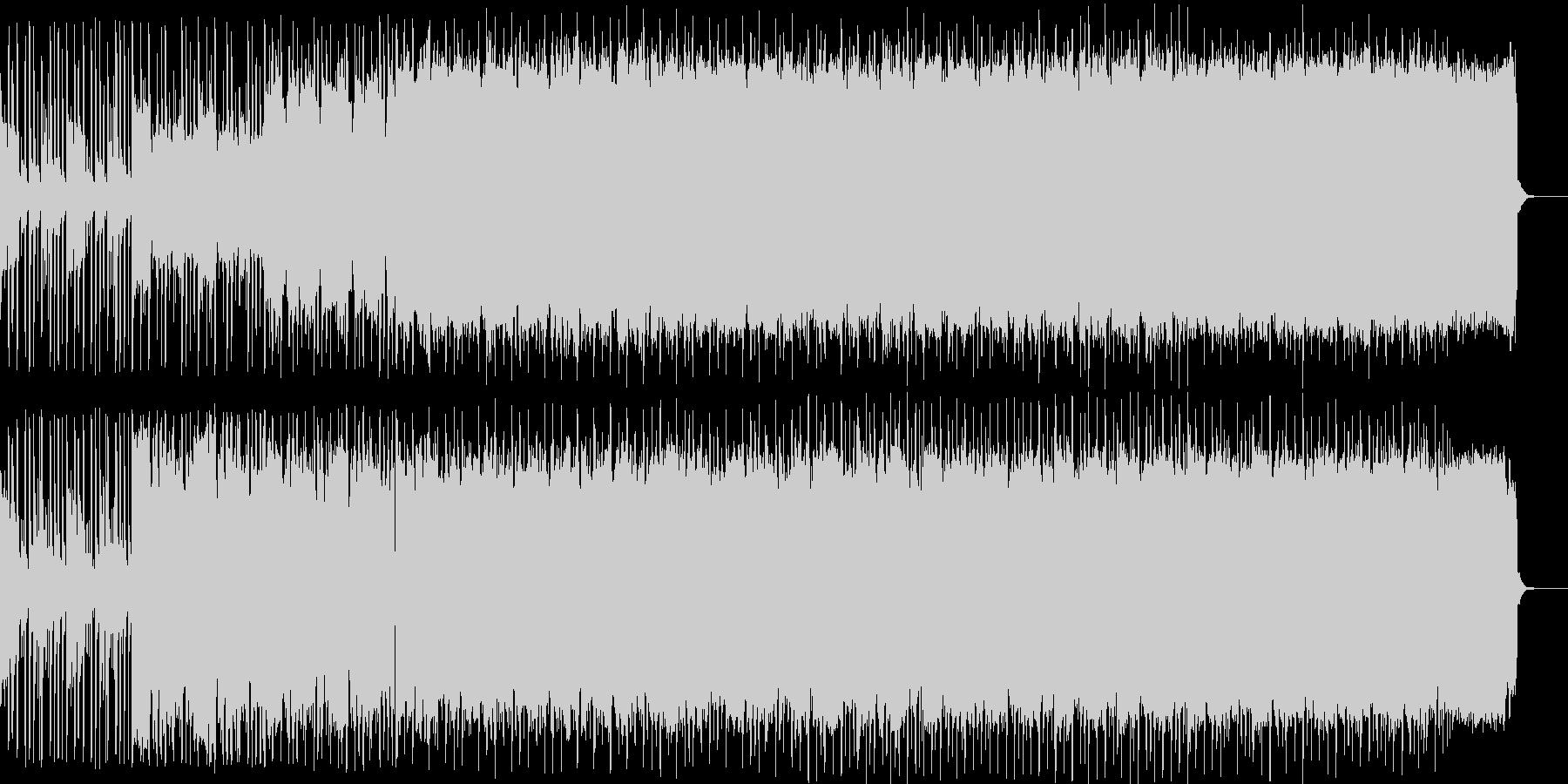 音が無制限に共鳴してるイメージの楽曲の未再生の波形