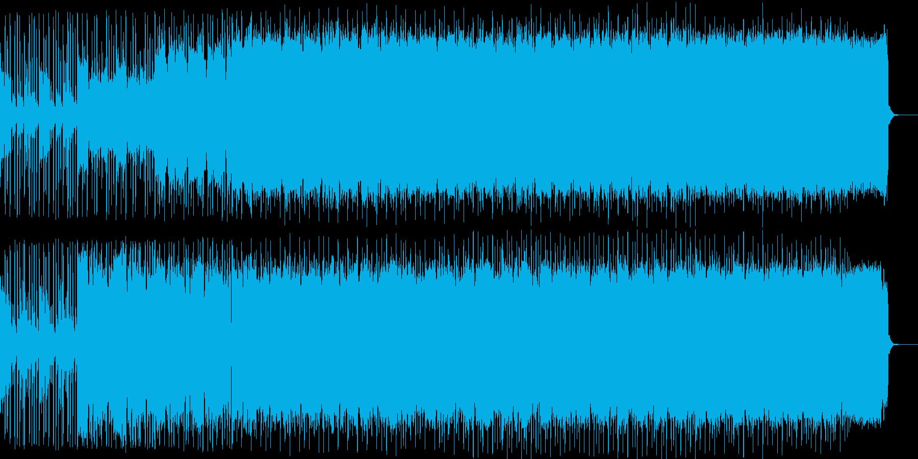 音が無制限に共鳴してるイメージの楽曲の再生済みの波形