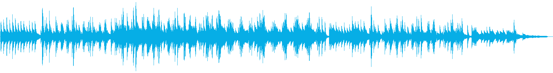郷愁・ノスタルジックなピアノソロの再生済みの波形