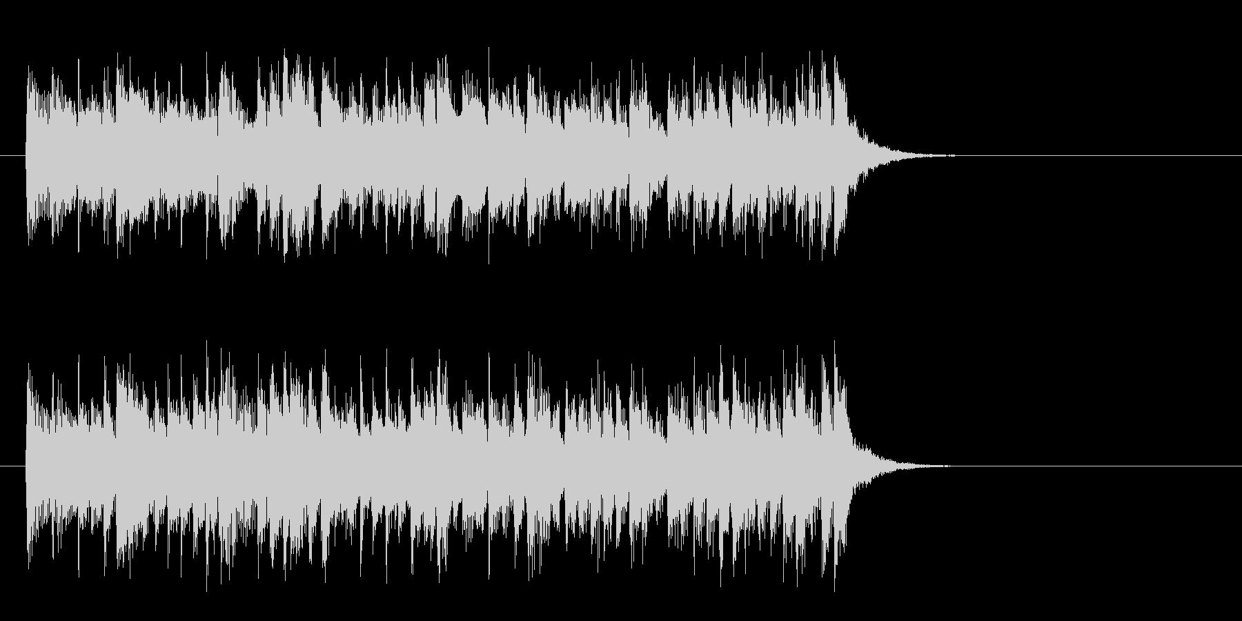 軽快なテーマポップス(イントロ)の未再生の波形