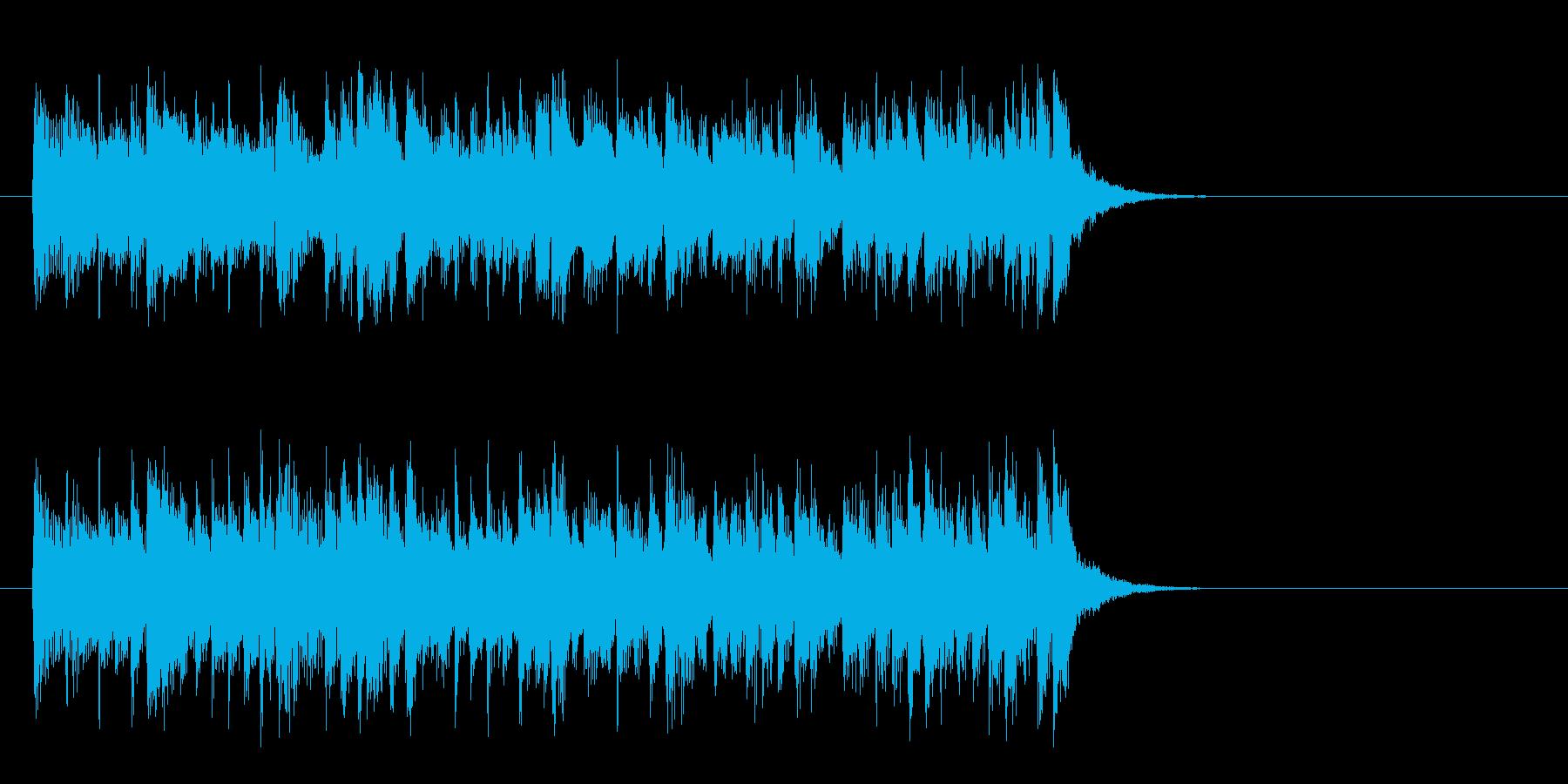 軽快なテーマポップス(イントロ)の再生済みの波形