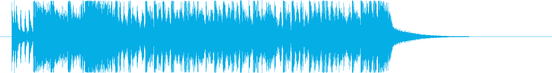 場面転換などに使えるジングル1の再生済みの波形