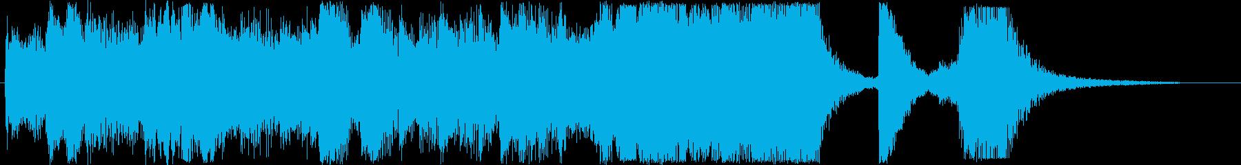 感動的なシンセなどの短めサウンドの再生済みの波形