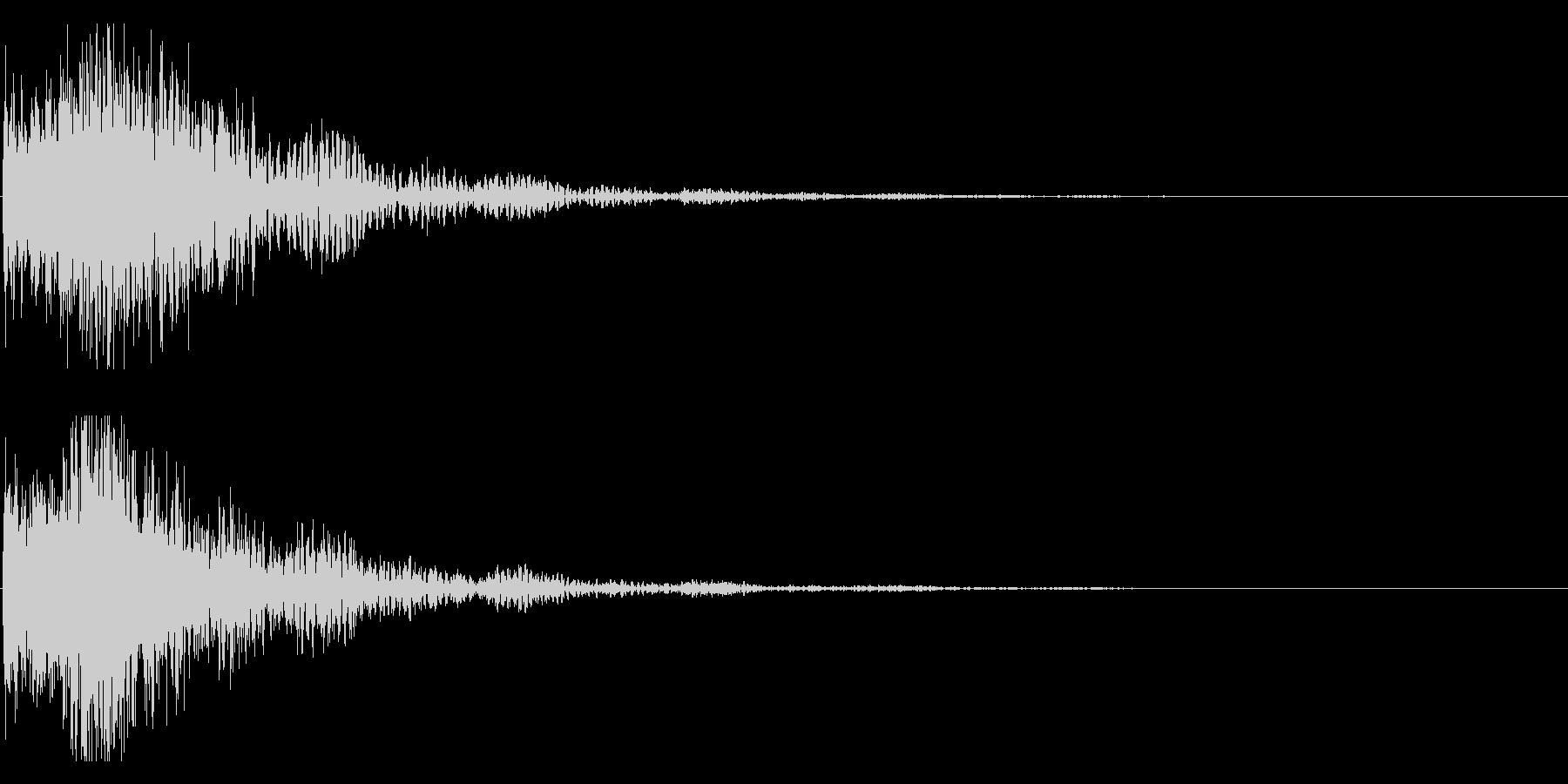 和風 オーケストラヒット ジングル!01の未再生の波形