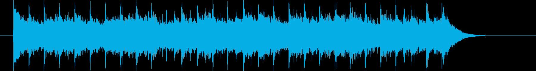 朗らかでリズミカルなピアノジングルの再生済みの波形