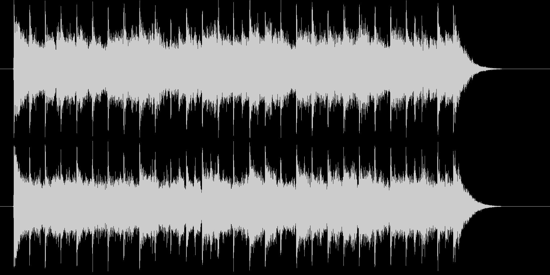 朗らかでリズミカルなピアノジングルの未再生の波形