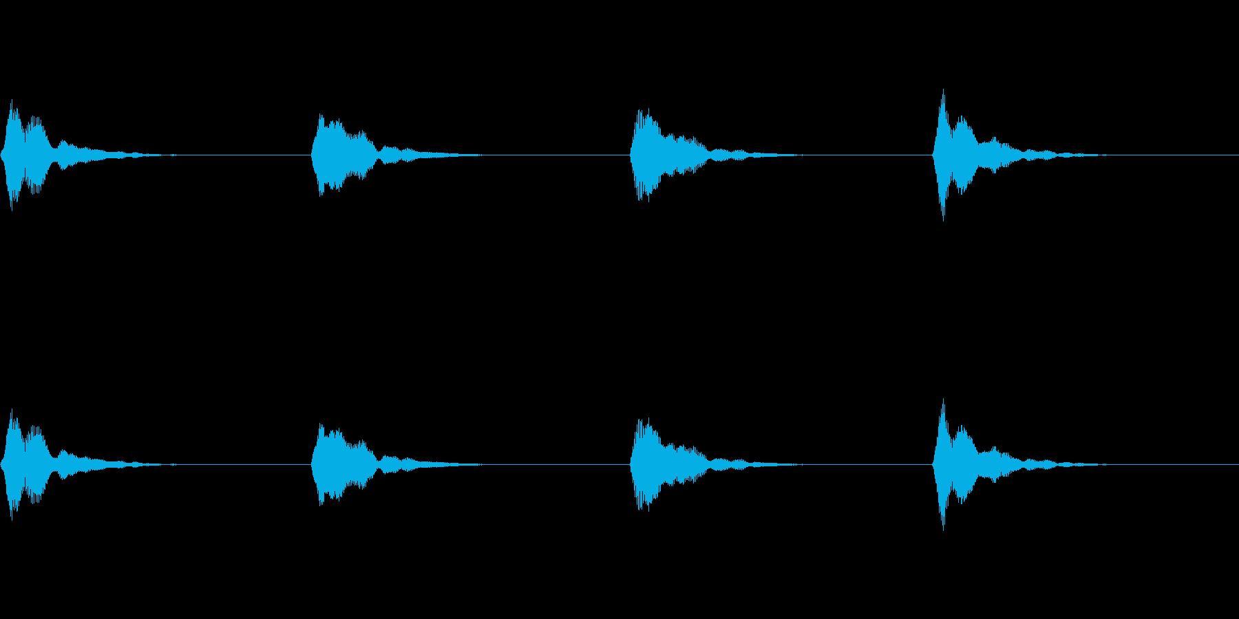 うれしさや喜びを表現した効果音の再生済みの波形