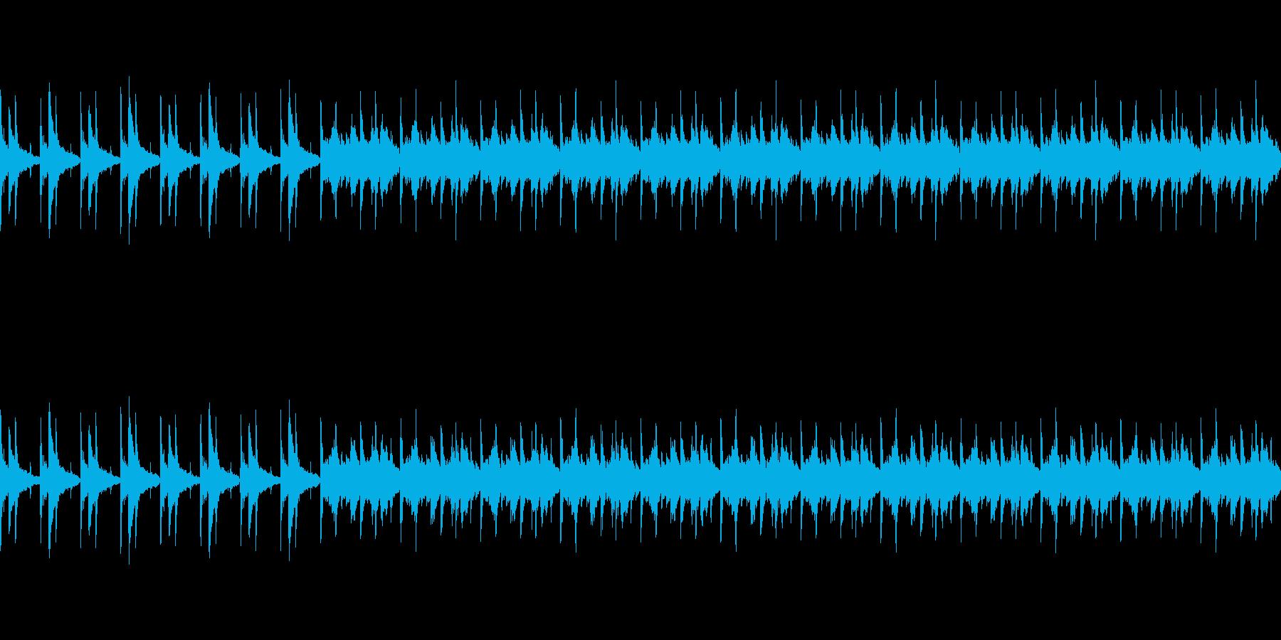 アコースティックギター(悲しい感じ)の再生済みの波形