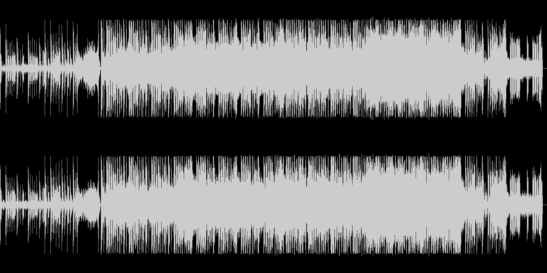 アップテンポで躍動感あるテクノポップの未再生の波形