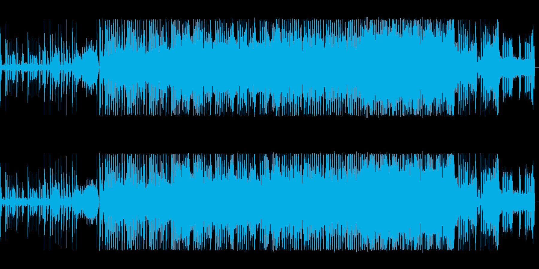 アップテンポで躍動感あるテクノポップの再生済みの波形