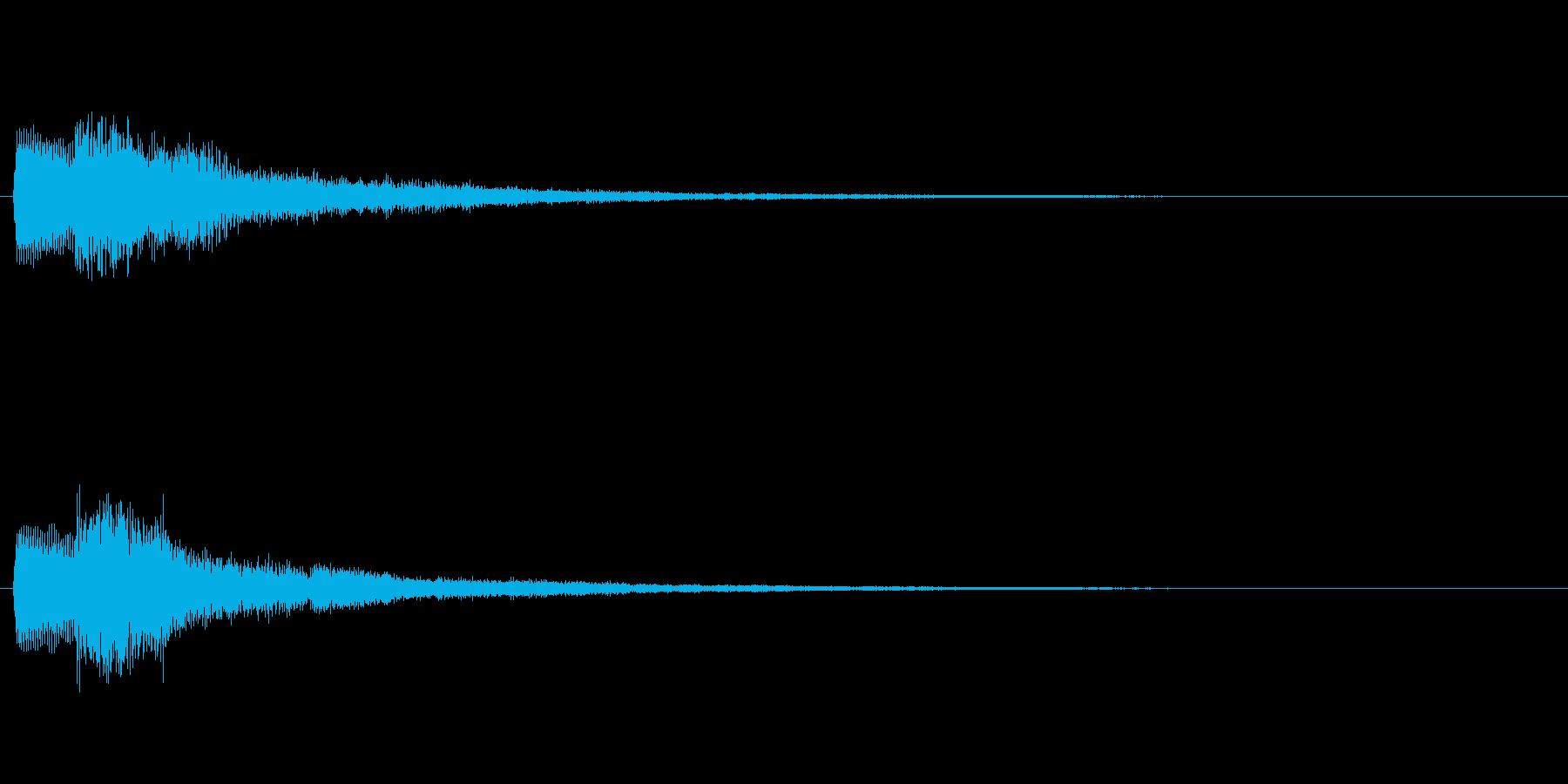 キャンセル音 いいえ、No、×等を想定の再生済みの波形
