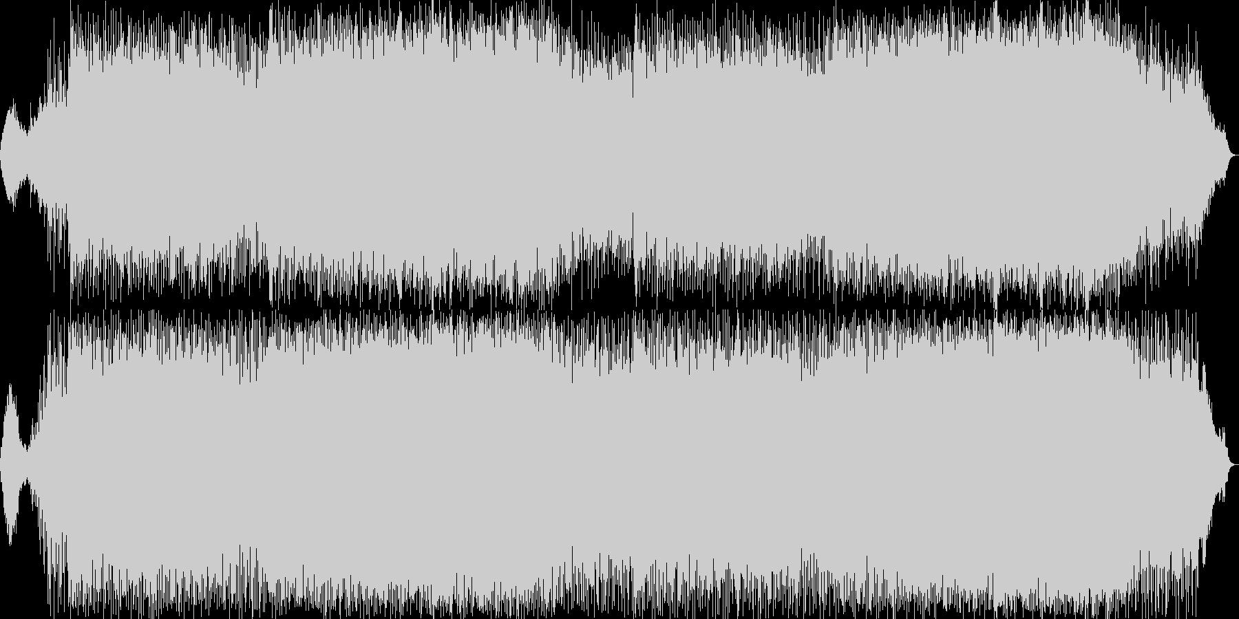 軽快で雄大なニューエイジ音楽の未再生の波形