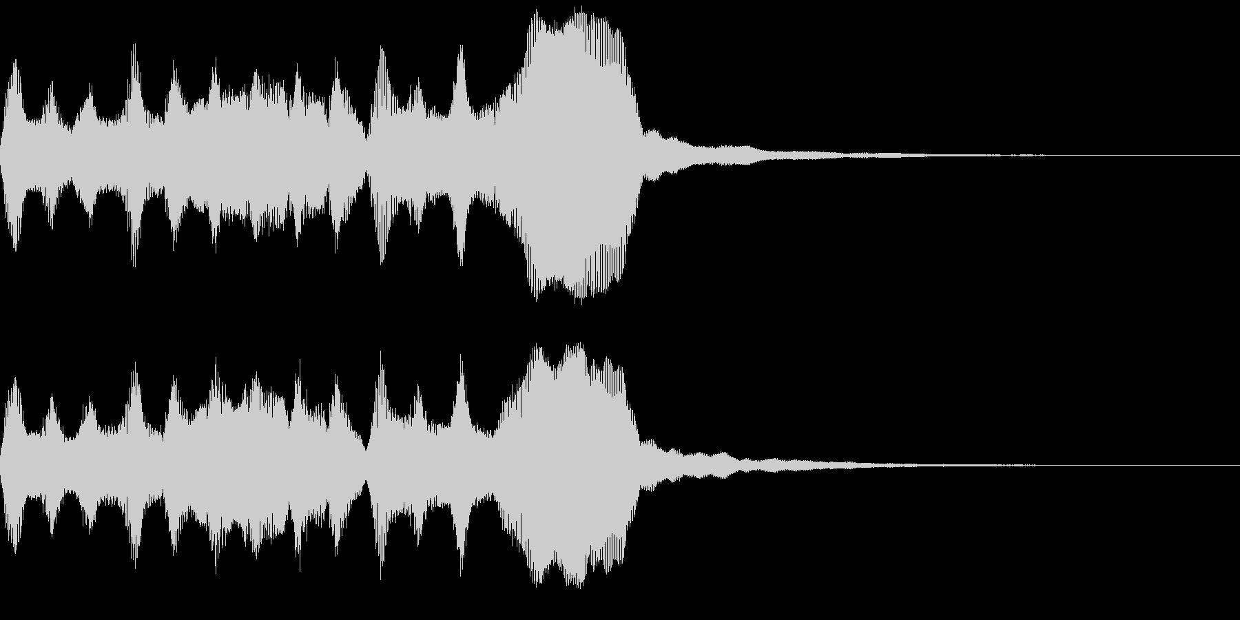 サウンドロゴ、ゴージャス感、verAの未再生の波形