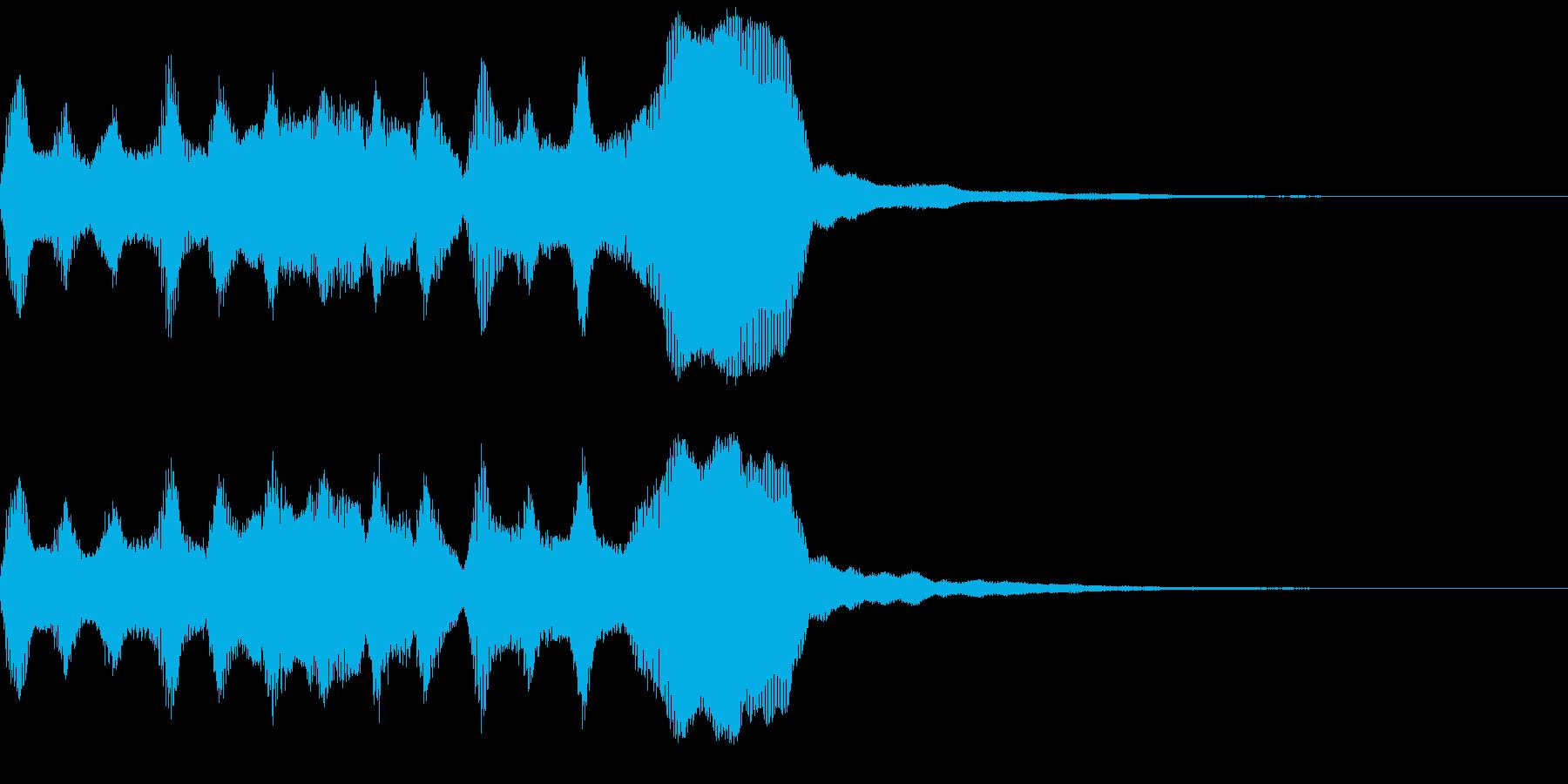 サウンドロゴ、ゴージャス感、verAの再生済みの波形