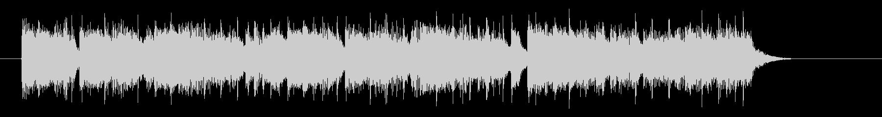 爽やかで明るいシンセサイザーサウンドの未再生の波形