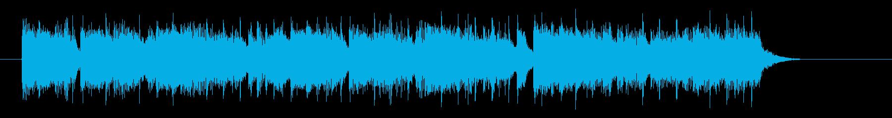 爽やかで明るいシンセサイザーサウンドの再生済みの波形