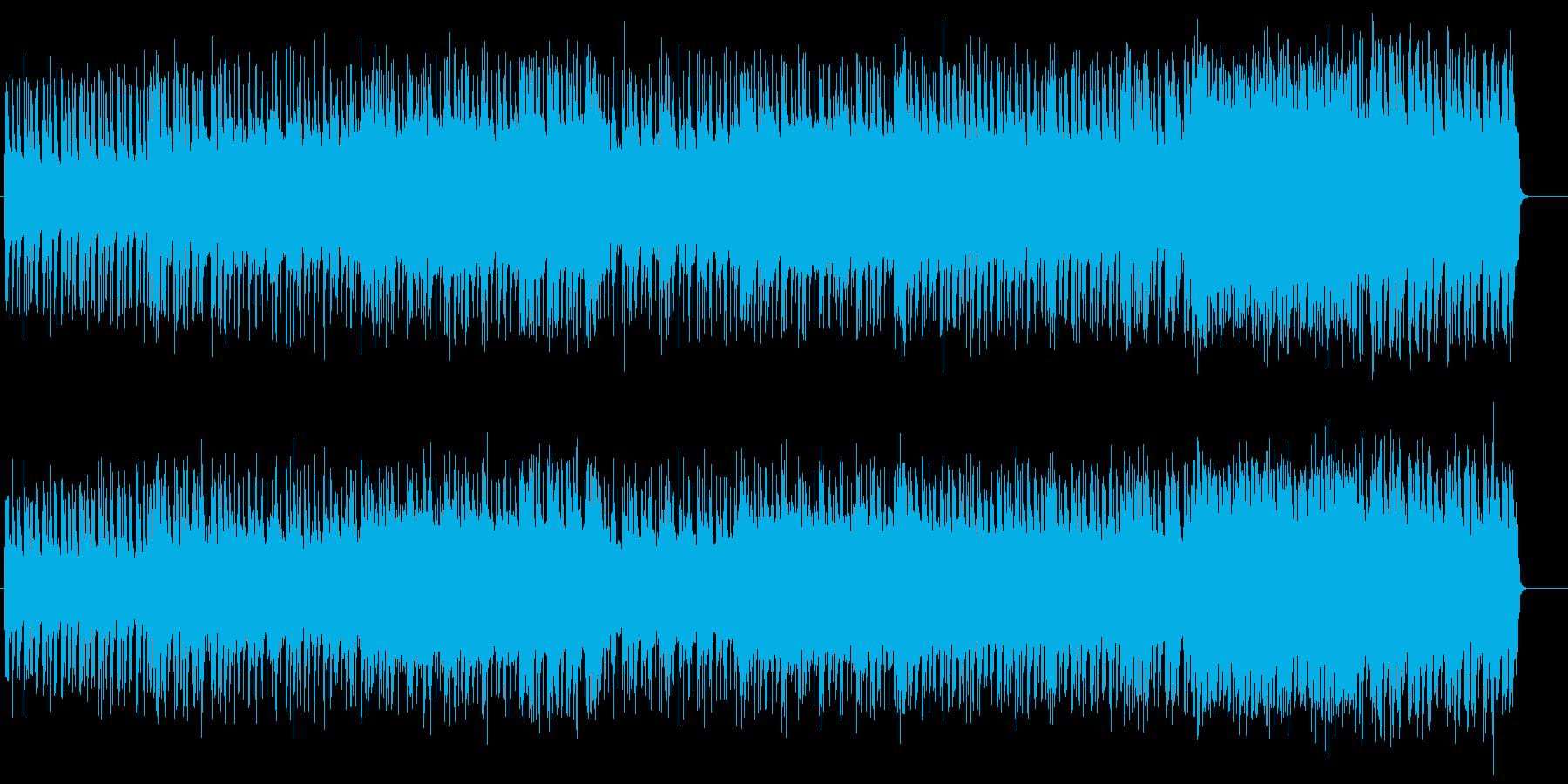 シンセを取り入れた幻想的ゲームBGMの再生済みの波形