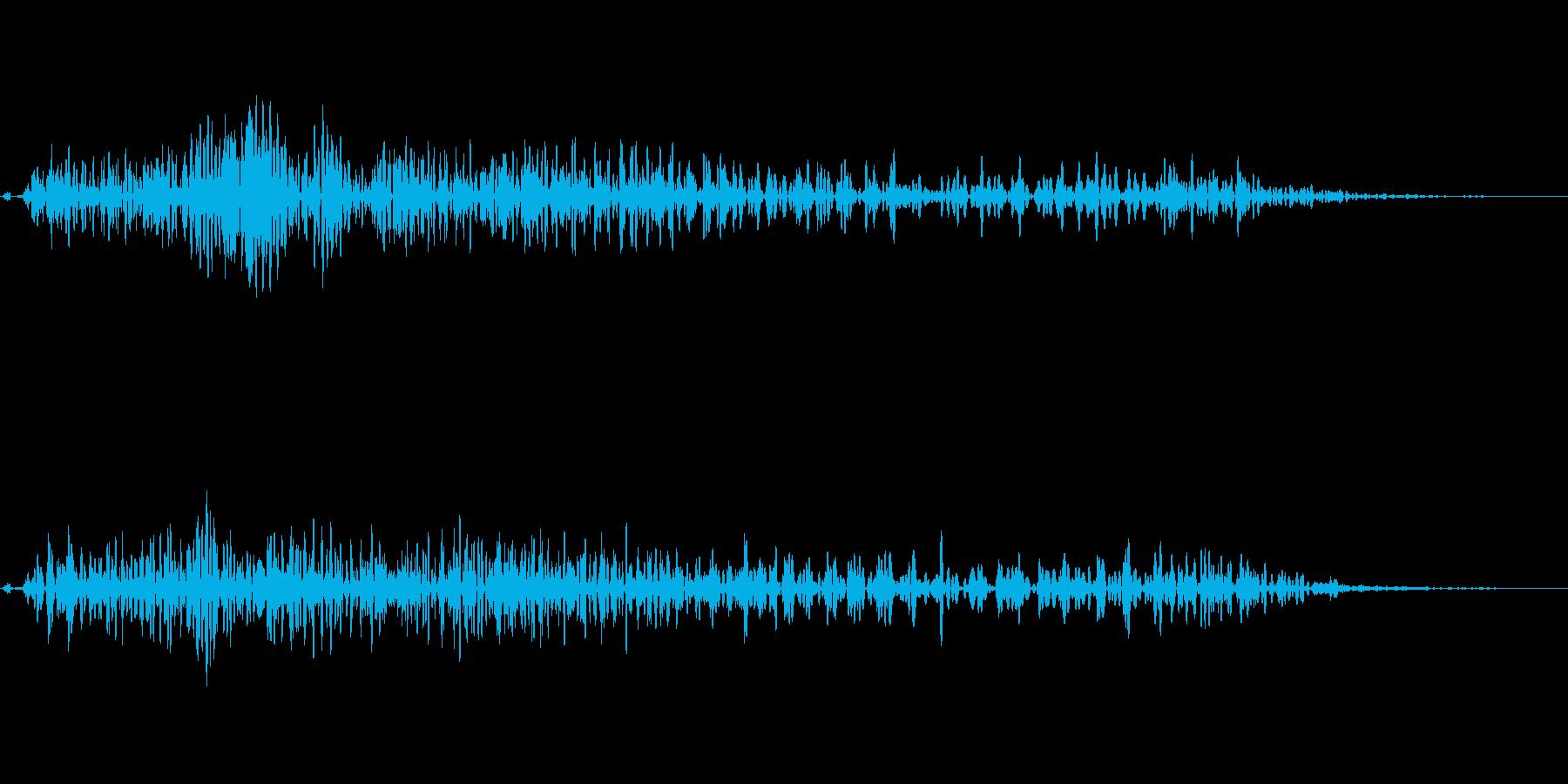 攻撃音(ファミコン・アクション・バトル)の再生済みの波形