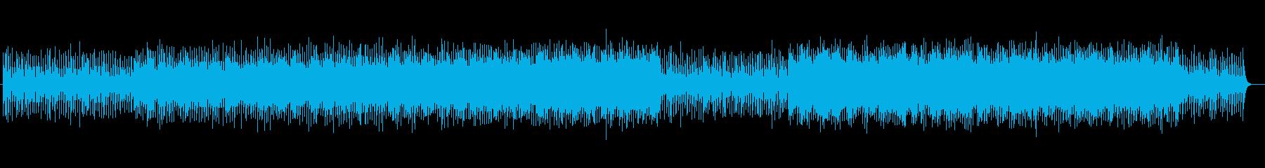 明るくキラキラしたシンセサイザーの曲の再生済みの波形
