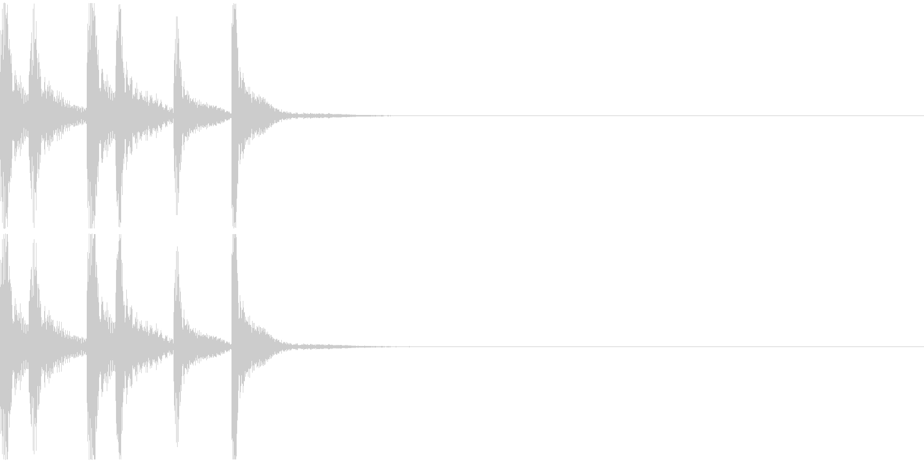 シンプルなジングルその1の未再生の波形