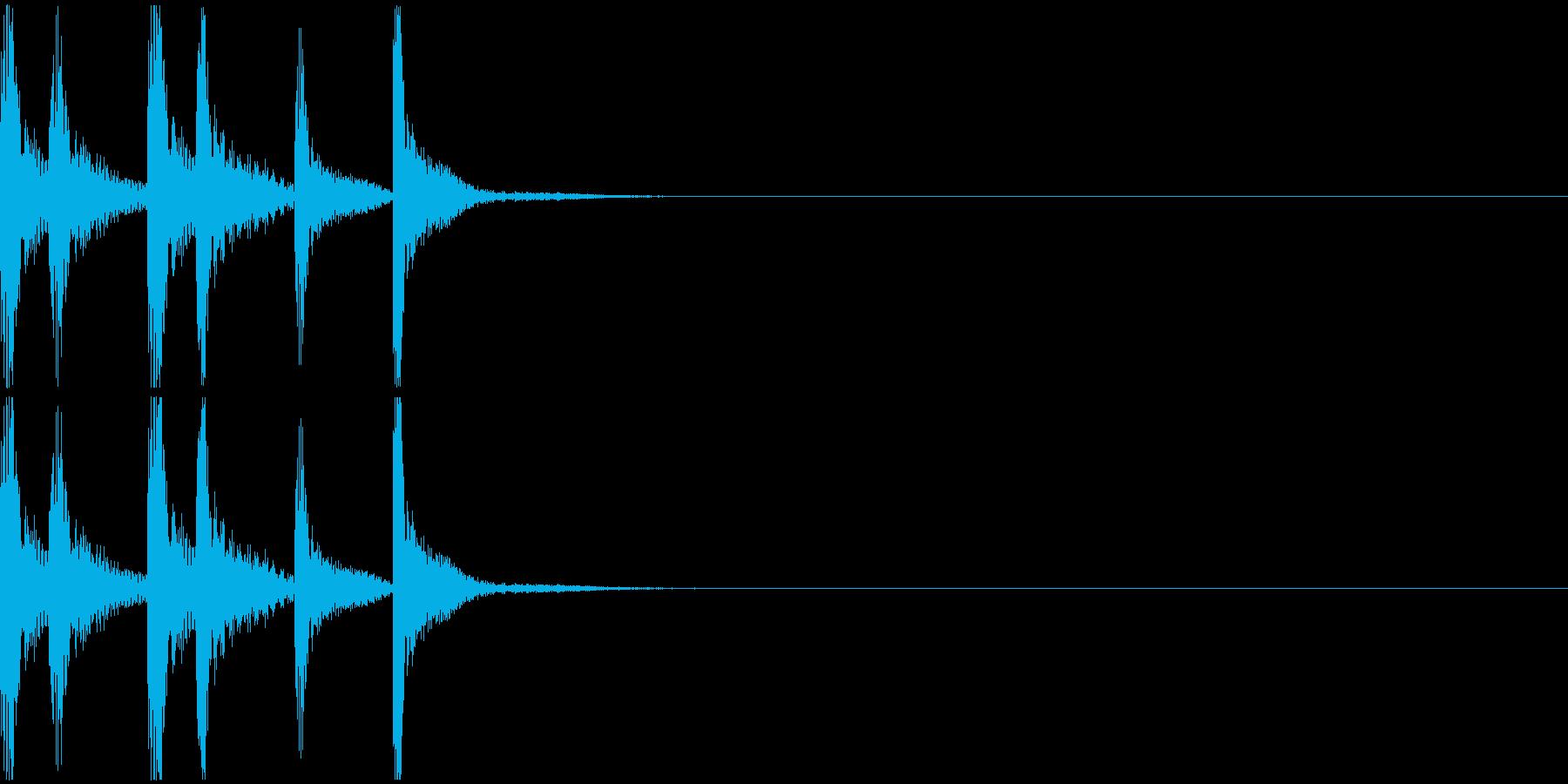 シンプルなジングルその1の再生済みの波形