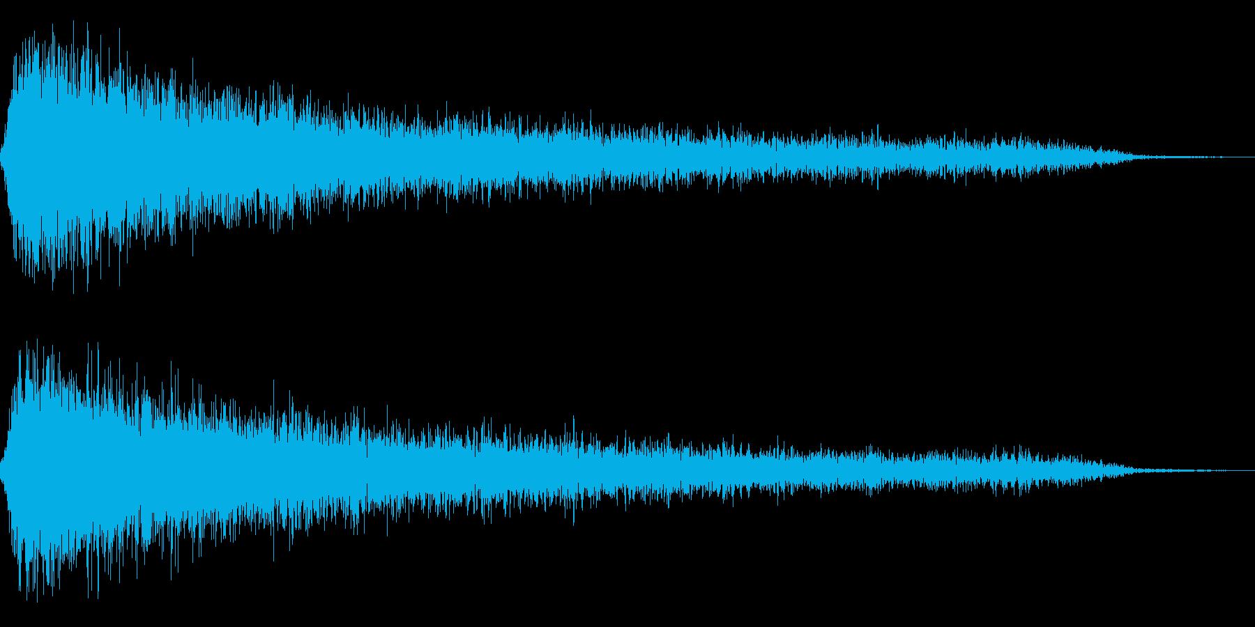 ホラー2(幽霊が現れる音)の再生済みの波形