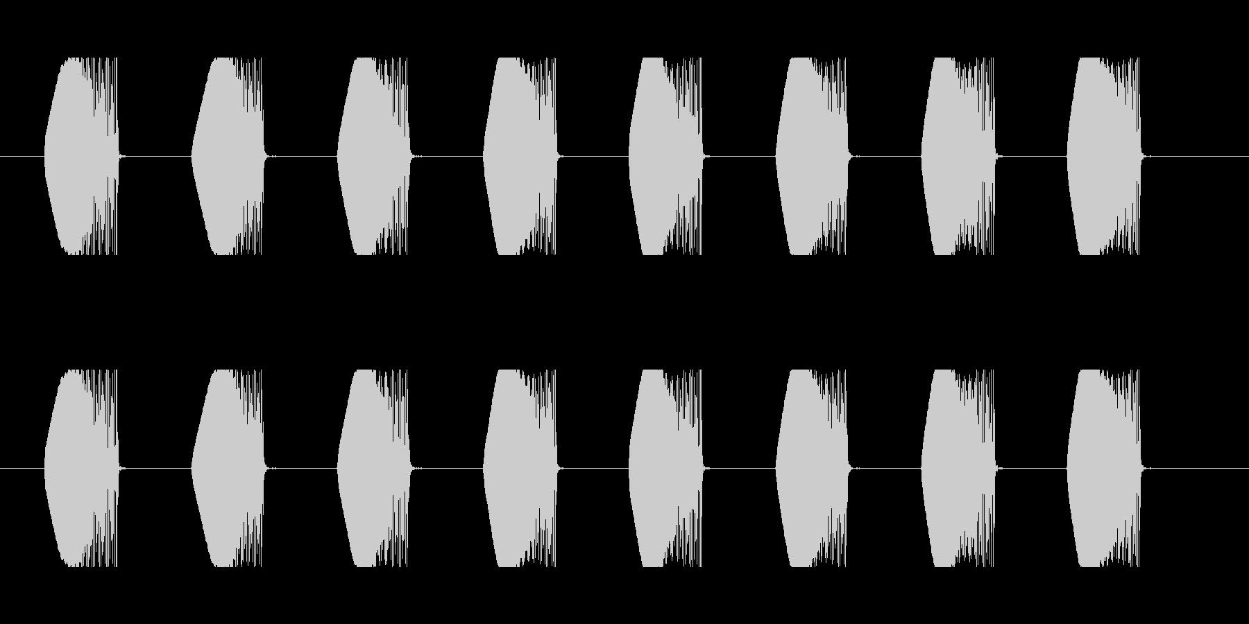 ビーム効果音 A-2 連射 ダダ ビビの未再生の波形