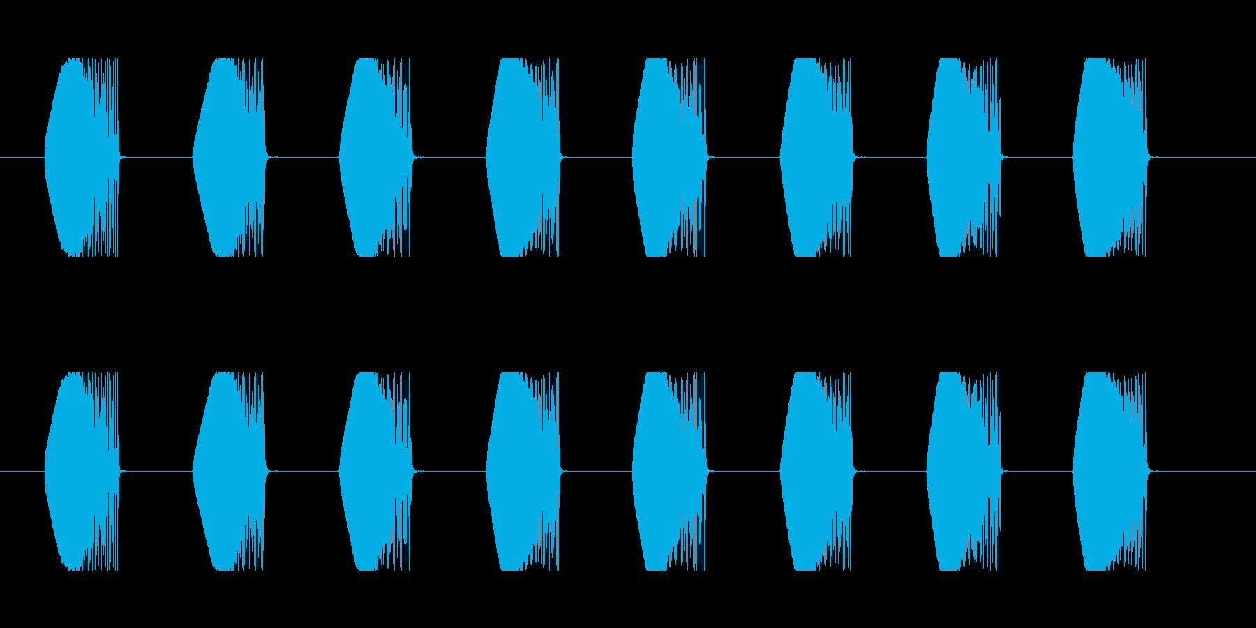 ビーム効果音 A-2 連射 ダダ ビビの再生済みの波形