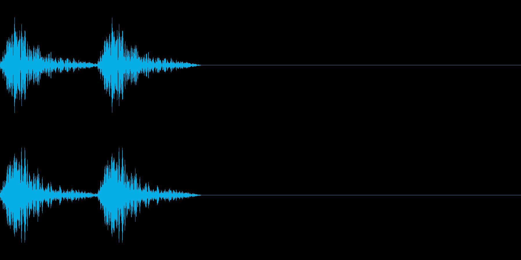 鳴く子犬の再生済みの波形
