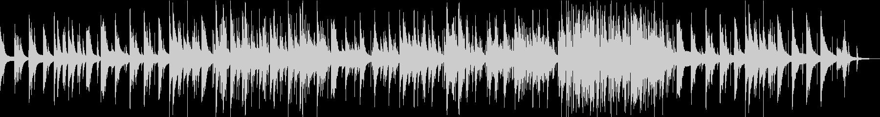 ピアノトリオの美しいジャズバラードの未再生の波形