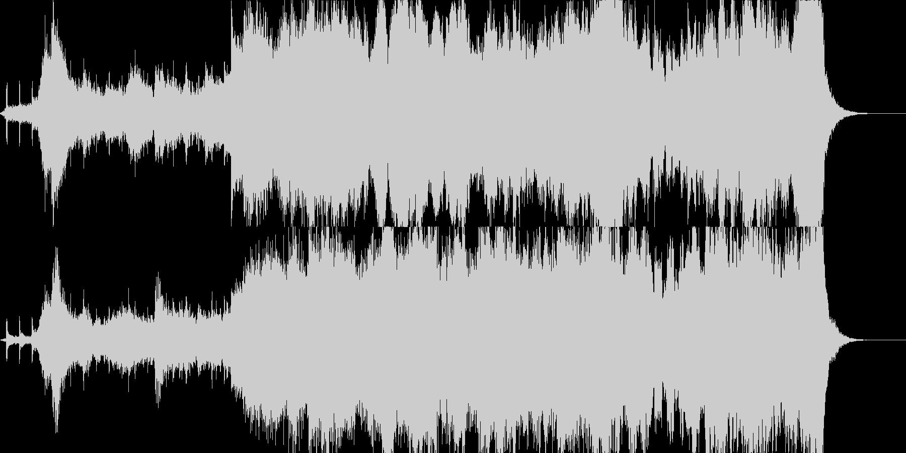 時計の運命的な音と共に入場の未再生の波形