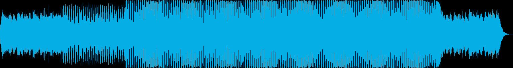 パズルゲーム向けのスローなアンビエントの再生済みの波形