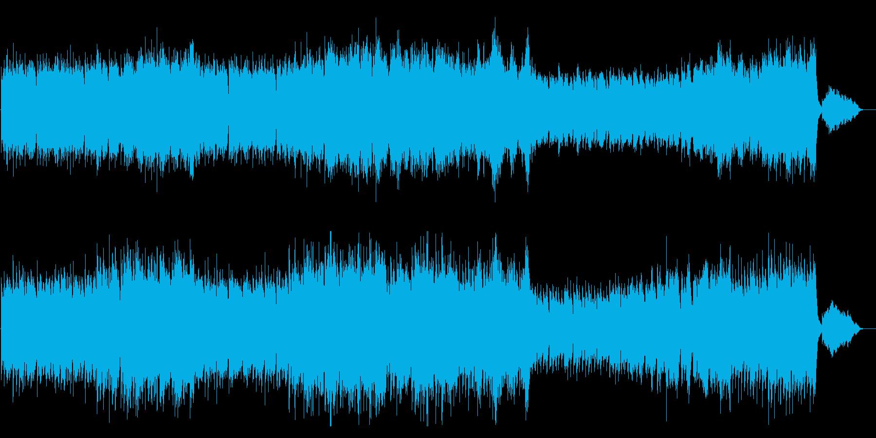 爽やかでドラマチックなケルト風楽曲の再生済みの波形