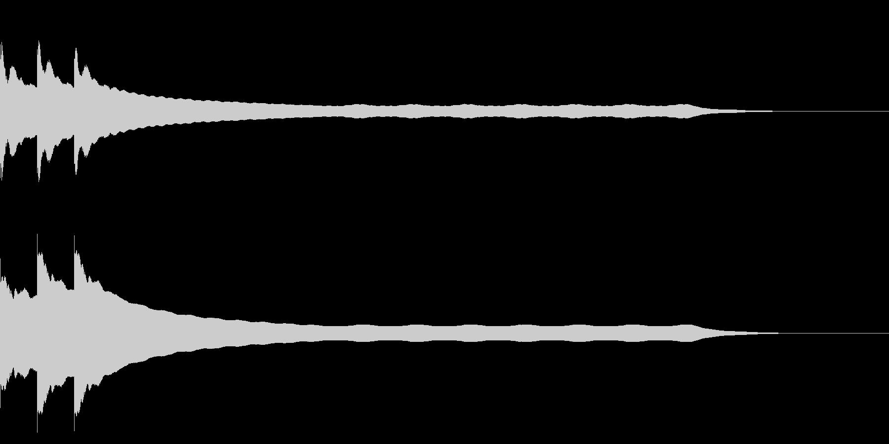 チーンチーン 仏壇の鐘の音4 リバーブ付の未再生の波形