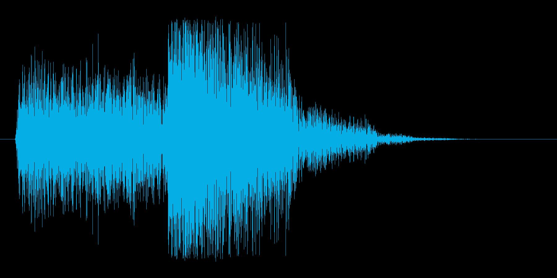 【ギター攻撃(弱)】パワーコードの再生済みの波形