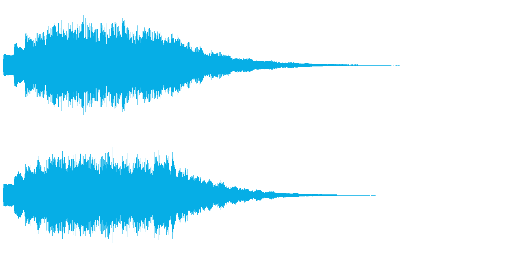 決定、ひらめき等の効果音ですの再生済みの波形