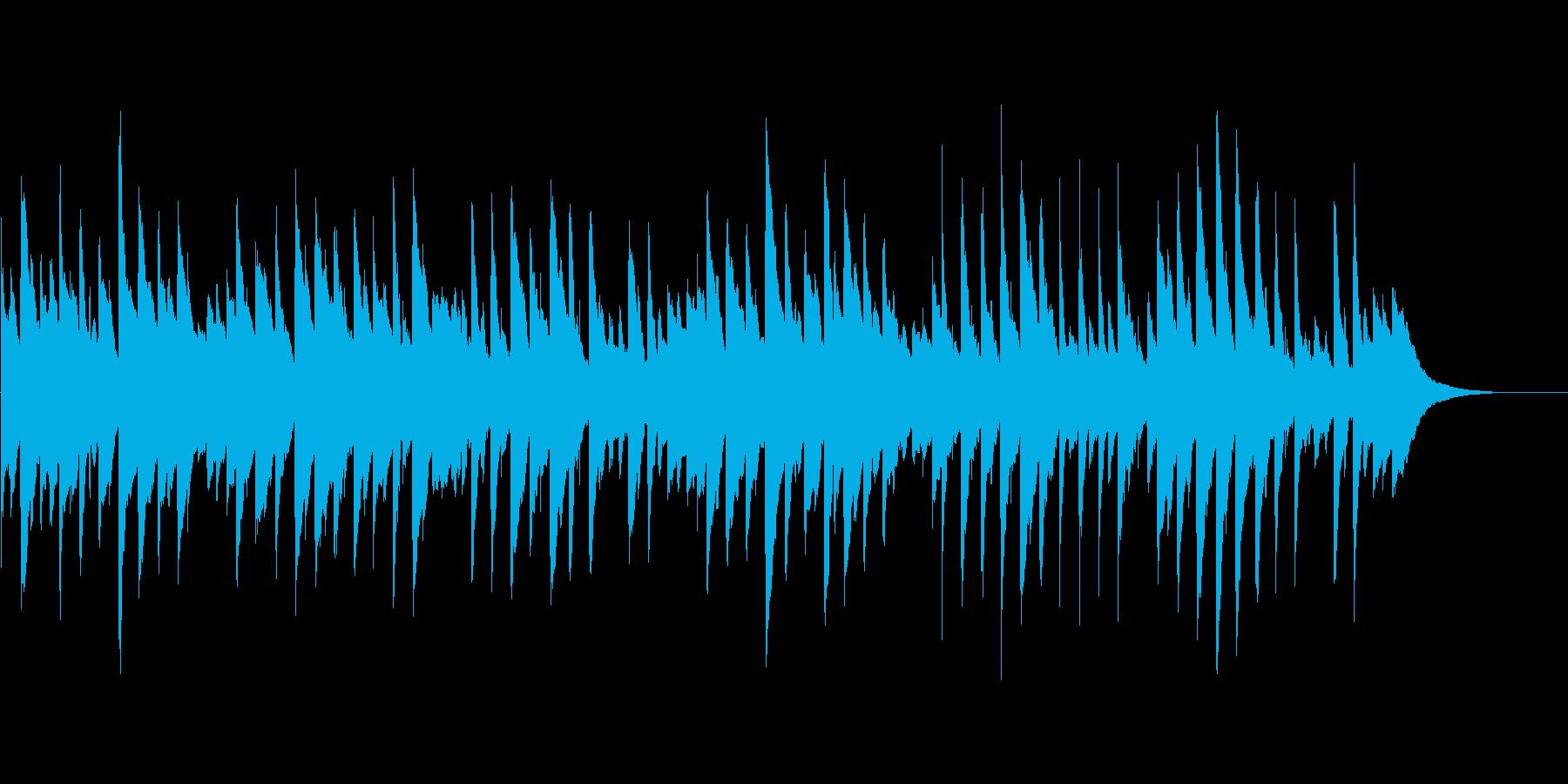 優しいピアノインストの再生済みの波形