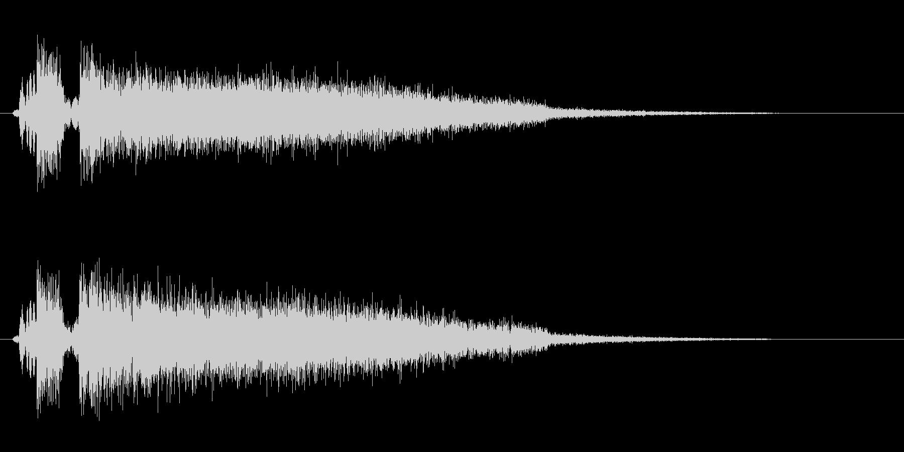 ドシューッ(勢いを感じる効果音)の未再生の波形