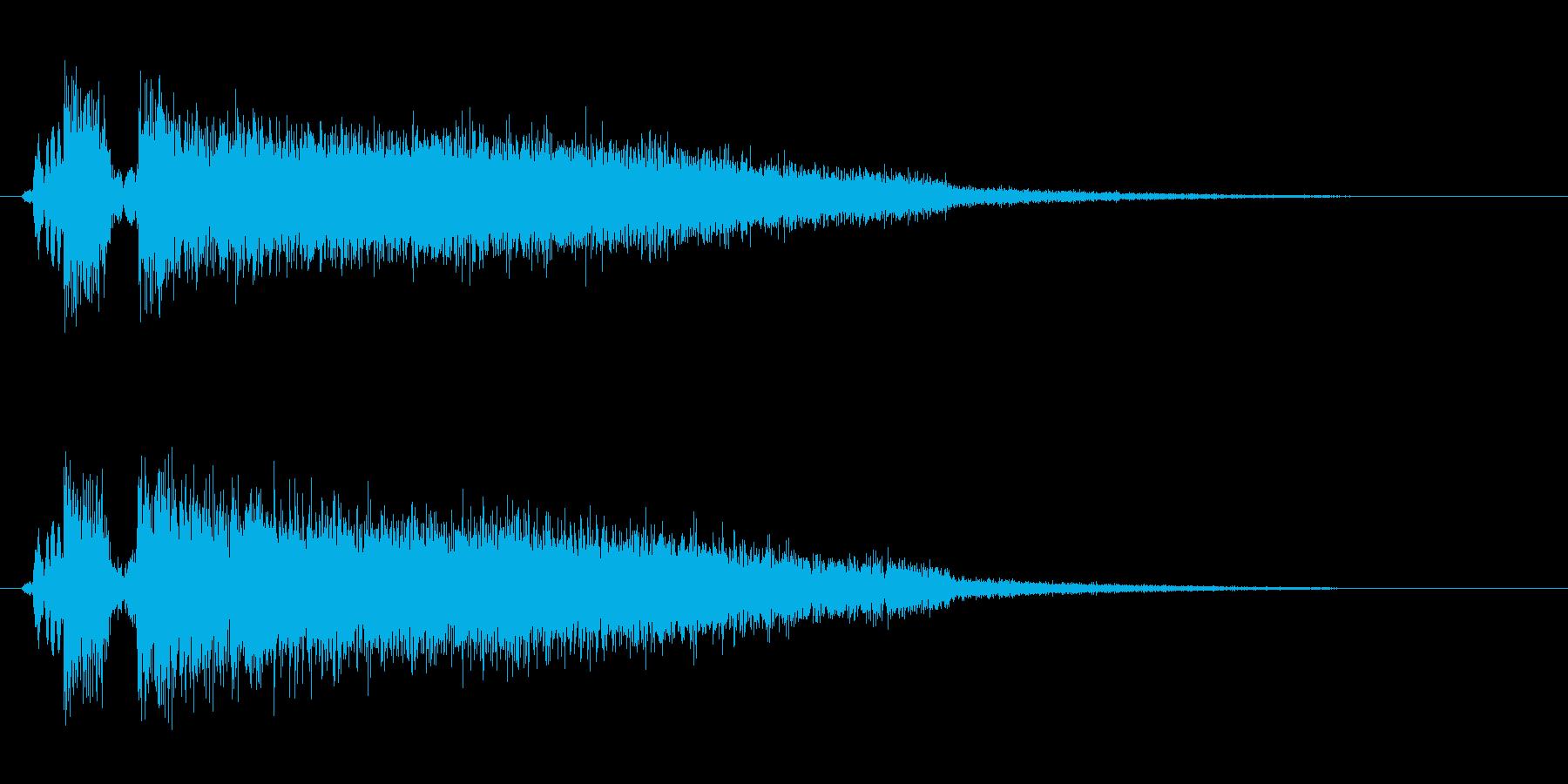 ドシューッ(勢いを感じる効果音)の再生済みの波形