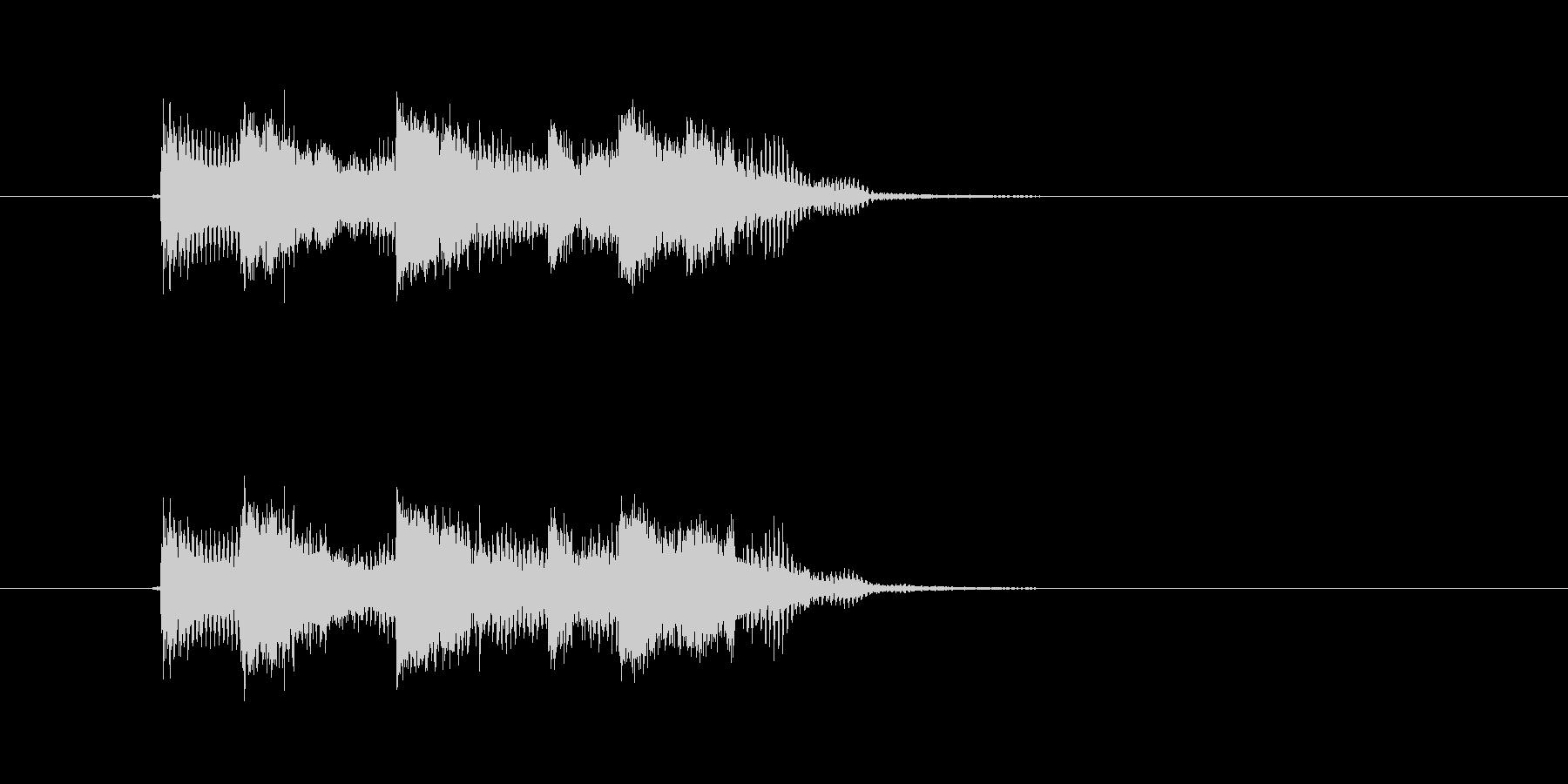 爽やかなギターサウンド(ジングル、転換)の未再生の波形