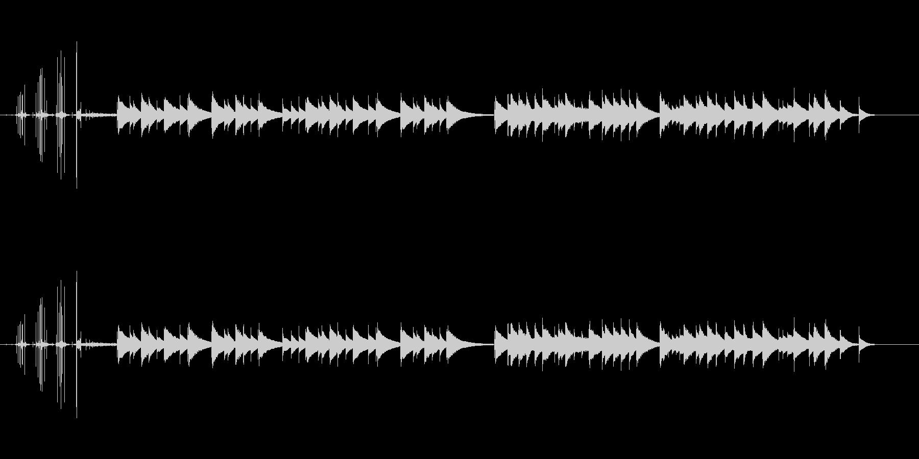 オルゴールのネジを巻き止まるまでの短い曲の未再生の波形